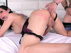 Elegant tranny Danny, has a firm grip on Alex's cock. She is getting jerked off, too. When her man's lips are around her hot lady cock, she gets even more turned on, and her dick begins to pulsate. She holds back the urge to ejaculate and takes it deep in her asshole.