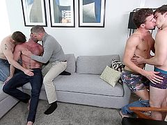 To make this weekend special, these five colleagues decided to spice up the party mood and finalized on homosexual orgy, after checking several other options. Starting from gay undressing to rough butt fucking, everything you expect in hardcore gay porn can be found in this video.