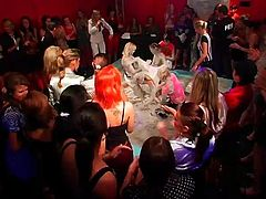 Reality video of party girls getting crazy and mud wrestling