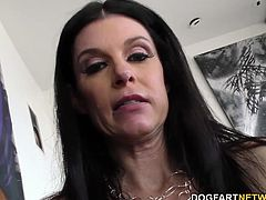 Hot cougar India Summer gets assfucked by Dredd's big black cock. She has multiple orgasms while her pussy and ass getting stretched...