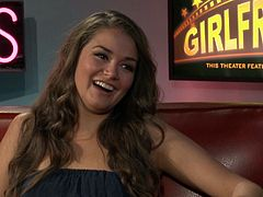 Allie Haze is the guest on a pornstar chat show talking about her life