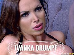 Horny brunette milf, Nikki Benz, prefers big black cocks and she was mesmerized by the size of Isiah Maxwell's huge tool. She took it in mouth and sucked it, until he released all his juices. She didn't waste a drop of thick white nectar and the black hunk also liked it.
