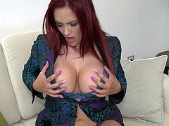 I spent a night with European whore. I recorded her masturbating. Her big boobs were jumping out of bra and legs were looking damn hot. She pressed her boobs and licked nipples herself. Her pussy was visible in transparent panties. She was sliding fingers in and out, moaning loud. Her panties became wet with pussy juice.