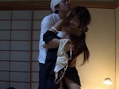 Bound and gagged Asian girl is a slut for hot cock