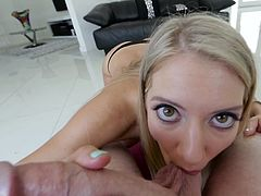 Visit official 1000 Facials's HomepageNothing like a good spin from Candice Dare, a slutty blonde in love with sucking cock during flaming POV scenes, something to always delight her