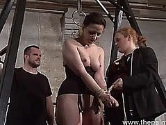 Thrall Caroline Pierce whipping and strict double domination castigation of americ