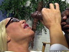 Big titted milf gets assfucked by huge black cock...
