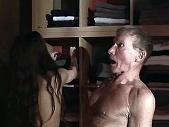Old grandpa fucks a teen in her pussy. the young girl sucks the old man cock dry craving his cum. He fucks her tight pussy and slaps her ass while fucking her. Best teen blowjob in old young porn
