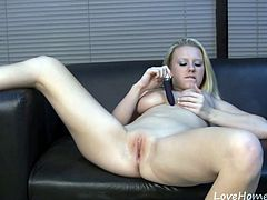 Her pussy needs a lot of attention, and she is the only one who knows herself well enough to make herself cum. Today, she decided to try out a new vibrator, by using it on her wet clit.