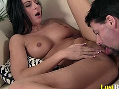 Adorable Nikki Daniels just loves to eat semen