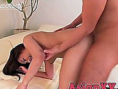 AsianXV menacing-fearsome Oriental lady drilled in front of web camera