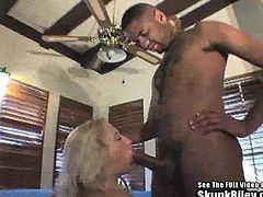This dumb white dude lost another card game and needs to pay his debt. Big black cock wielding dealer says there is one way to pay, lemme fuck yo wife! Black Dick in White Milf Wife Bitch!