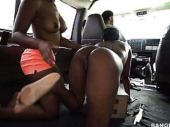 Teen temptress Jaime Fetti with big tits loves riding the hershey highway with hot dude