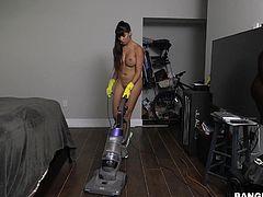 Mercedes was a great find for a maid. Sometimes, I call in to work just to watch her clean, since she does it in the nude. I just have my cock out, while I watch her, then she comes over and cleans the cum out of my dick, with her mouth of course.