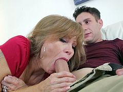 Visit official Mommy Blows Best's HomepageHorny mom, with staggering pair of tits, Darla Crane, kneels to blow daughter's boyfriend in a series of kinky cock sucking porn moments