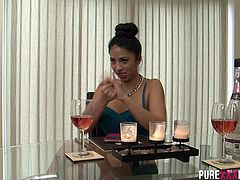 Sexy busty Julia de Lucia really needs a fuck and her BF can´t do it. So she turns to his best mate, who is hard as a rock and banging her pussy high in the sky.