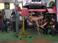 public disgrace in a garage