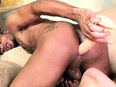 Buxom tranny and her lustful boyfriend drill each other's fiery asses