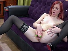 Visit official Wet And Puffy's HomepageRedhead slut, Shelby, shows off cracking her pussy with a baseball bat in a series of naughty amateur solo masturbation porn scenes