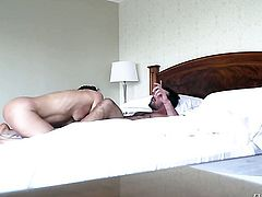 Manuel Ferrara makes Sultry sex kitten Samia Duarte scream and shout with his stiff love torpedo in her asshole before she gets her throat banged