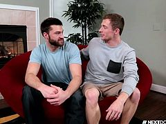 In the dirty talk, both of them came to know that they were most interested in cocks and without wasting a second, they became naked. Kissing, cock sucking, rim job, ass licking, butt hole fuck and many more horny actions of these two studs, made this video really special.