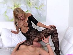 Naomi came to the modelling interview and her sexy body, instantly made Tracy horny. Blonde agent asked for a mutual service and undressed herself. She said, that if Naomi will satisfy her sexual needs, she will help her to get this job. Naomi kissed Tracy's juicy tits and touched her pussy lips with her wet tongue...