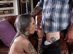 punk girl shows her sex skills