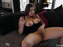 When busty Danielle has some spare time, she always gives herself some special pleasures. This time she decided to give her nipples a bit of special massage, with the help of nipple pumps. Let's enjoy her big titties with those hard berries of nipples. Just relax and have fun!