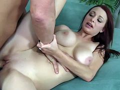 Super Hot Red-Head Jessica Robbin Ride the Cock Like a Maniac