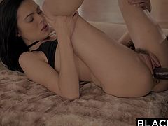 Marley Brinx is a horny petite white girl with mad love for all big and black. She is happiest when sucking big black dick. She trained her vagina well. She is able to take in a massive rod in her tight pussy, all the way to the balls. It's amazing to watch her get pounded by a big black dick!