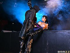 Aletta Ocean with big knockers takes Danny Ds fuck stick up her muff pie