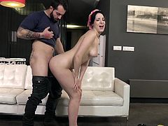Visit official Paper Street Network's HomepageBrunette house wife moans and endures cock down the pussy in a series of really harsh XXX scenes on the couch, something to grant her unique orgasms