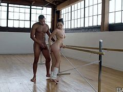 Flexible ballerina Melissa Moore enjoys every second of passionate sex with black partner