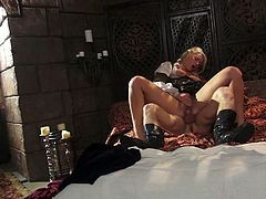 Sleeping beauty Anikka Albrite is fucked hard by hot tempered prince
