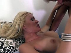 Slut Kitana Lure swallows hard and big dick and takes t in her slit