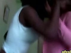 Two gorgeous African ladies get frisky in bed