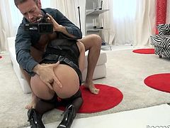 Rocco Siffredi wants to select the best and that's why porn models go through a tough casting session, before hiring. In this video, Dominica Fox tried her level best to please him. She allowed him to finger her asshole, sucked cock, licked his asshole and did several nasty things to get selected.