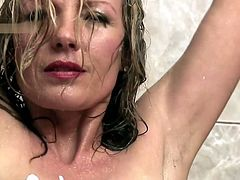 Amazing Big Tit Blonde Milf Shower hdflv