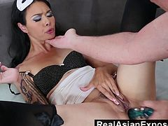 Sexy Dana will blow her man till hes rock hard and throbbing before bending over to offer her hungry butt to all the abuse he wishes to give it