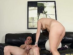 Brunette latin pornstar had her lovely face covered in sticky nectar many times but wants some more