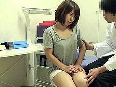 When this stunning Japanese babe went to her doctor, she had no idea that she's gonna end up with her doctor's cock in her mouth. Guess the doc was horny today and he took the opportunity, when he noticed that she doesn't object. She enjoyed it as well, especially when he fingered her hairy pussy.