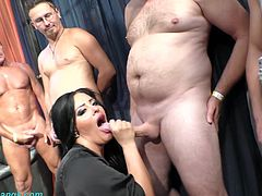 extreme wild german bukkake gangbang orgy with monster boob babe Ashley Cum Star
