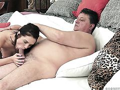 Brunette with big jugs fucks a lot with hard cocked bang buddy before she gets enough