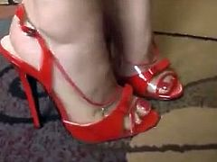 Bare Feet In Open High Heels 24