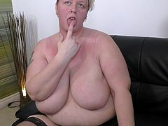 Sure she looks amazing and it's hard to refuse such an offer, so why not join this super horny fatty with enormous tits and give her plump pussy some hard love. She is hungrily waiting for your rock hard cock. Join!