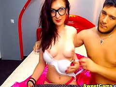 Watch this hot and pretty nerdy babe being fuck in her lovely mouth This guy ask his girl to give him a pleasure and this kind nerdy babe agreed with that She deep throat sucking her partners hard cock while she gently smashing her lovely titties she also lick and caress her boyfriends balls She is very aggressive in this video she does not mind choking She suck the dick close up in the cam teasing us by licking while masterbating her boyfriends hard cock so ypu should not missed this video of this hot nerdy babe deep throat sucking a cock until it become hard as rock
