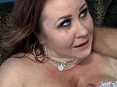 Mature BBW gets gives a fantastic blowjob and gets her tits sucked before getting fucked good and deep She gives him a nice tits fuck and makes him cum in her mouth