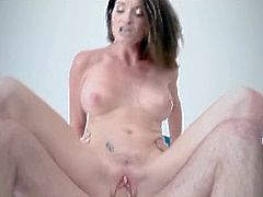 Hot MILF Step Mom With Big Tits Catches Her Son Jerking Off Then Fuck