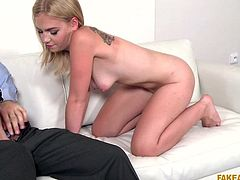 Seeing her big blue eyes full of hope, I was even a little ashamed to deceive her. But my cock was so swollen and I needed this blowjob so much, that I again decided to cheat, and promised her a high-paying job in return for a