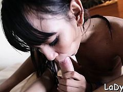 Miniature tranny bitch with a worthy ass gets slammed gentle